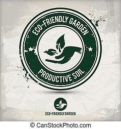 alternative eco friendly garden stamp