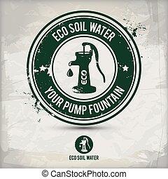 alternative eco soil water stamp - alternative eco pump...