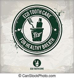 alternative eco tooth care stamp