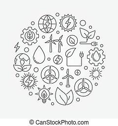 Alternative Energy circular illustration