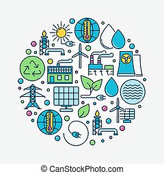 Alternative Energy circular sign