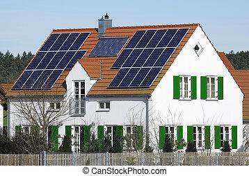 Alternative energy house - Photovoltaic and solar heating...