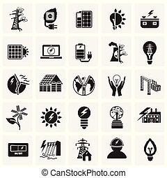 Alternative energy set on squares background
