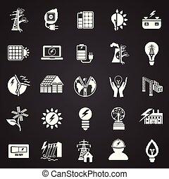 Alternative energy set on white background