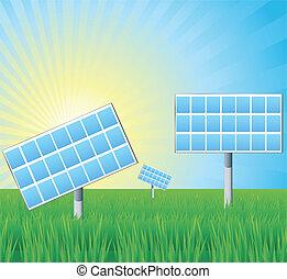 Alternative energy solar panels