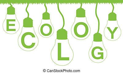 Alternative energy vector background poster