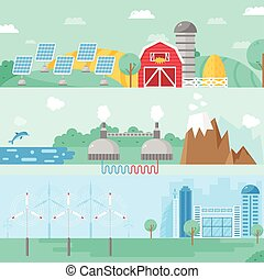 Alternative energy vector illustration.