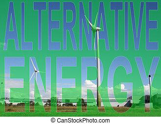 Alternative energy wind farm Industrial wind farm