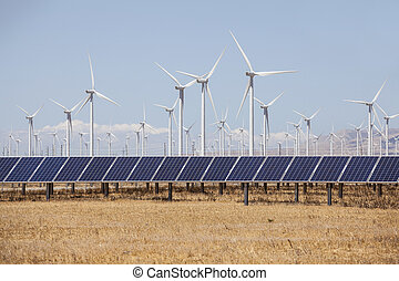Alternative Energy Wind Mills and Solar - Wind mills and ...