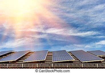 Alternative energy with solar panel
