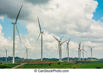 Alternative energy with wind turbine
