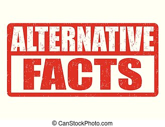 Alternative facts grunge rubber stamp