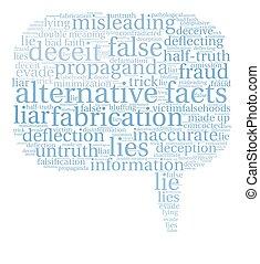Alternative Facts Word Cloud - Alternative Facts word cloud...