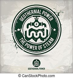 alternative geothermal power stamp containing: two...