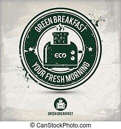 alternative green breakfast stamp