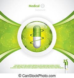 Alternative medication concept - herbal pill vector