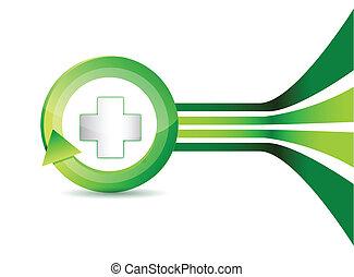 Alternative medication concept - medical cross