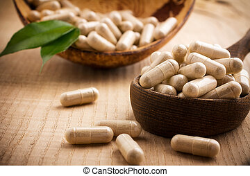 Alternative Medicine. - Alternative medicine tablets on a...