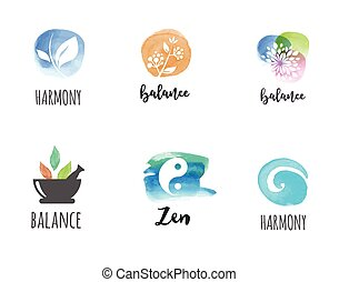 Alternative medicine and wellness, yoga concept - vector...