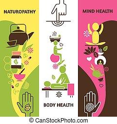 Alternative Medicine Banners Set