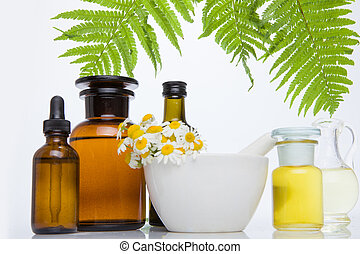 ALTERNATIVE medicine concept, phytotherapy, natural. - ...