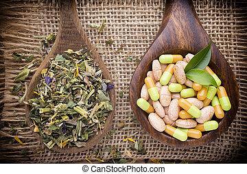 Alternative medicine. - Homeopathic supplement. Alternative...