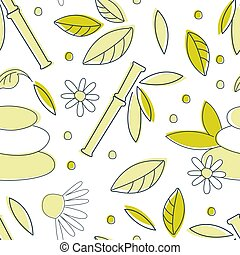 Alternative Medicine Seamless Pattern, Homeopathy, Holistic Medicine, Spa Background, Textile, Packaging, Wallpaper, Wrapping Paper Design Hand Drawn Vector Illustration