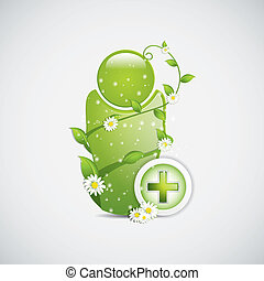 Alternative medicine sign vector