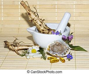 Alternative medicine still life