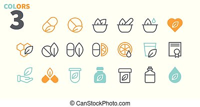 Alternative medicine UI Pixel Perfect Well-crafted Vector Thin Line Icons 48x48 Ready for 24x24 Grid for Web Graphics and Apps with Editable Stroke. Simple Minimal Pictogram Part 1-2