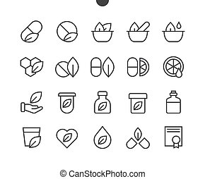Alternative medicine UI Pixel Perfect Well-crafted Vector Thin Line Icons 48x48 Ready for 24x24 Grid for Web Graphics and Apps with Editable Stroke. Simple Minimal Pictogram