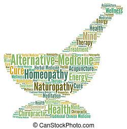 Alternative medicine word cloud concept