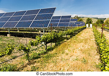 Alternative Power - Solar photovoltaic collectors powering a...