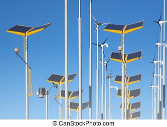 Alternative power supplies - Telephoto view of wind...