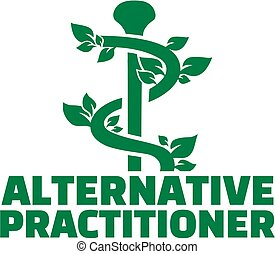 Alternative Practitioner with natural caduceus