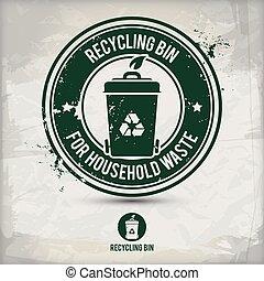 alternative recycling bin stamp