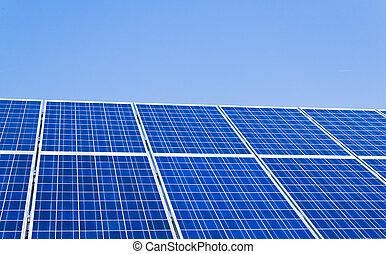 alternative solar energy. solar energy power plant. -...