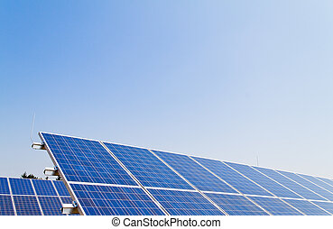 Alternative solar energy. Solar energy power plant -...