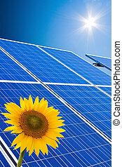 alternative solar energy. solar energy power plant -...