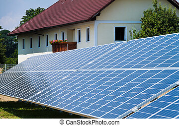 Alternative Solar Energy. Solar power plant. - Renewable,...