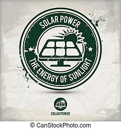 alternative solar power stamp containing: two...