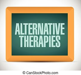 alternative therapies board sign