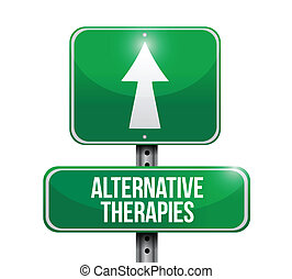 alternative therapies illustration design over a white...
