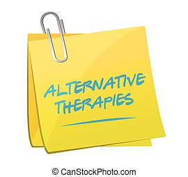 alternative therapies post memo