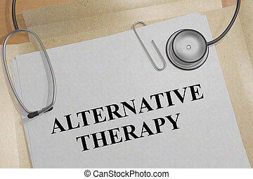 ALTERNATIVE THERAPY concept - 3D illustration of ALTERNATIVE...