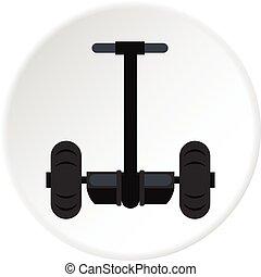 Alternative transport vehicle icon circle
