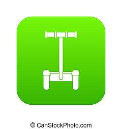 Alternative transport vehicle icon digital green
