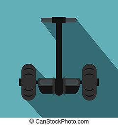 Alternative transport vehicle icon, flat style