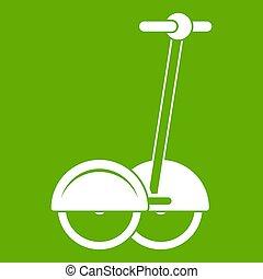Alternative transport vehicle icon green