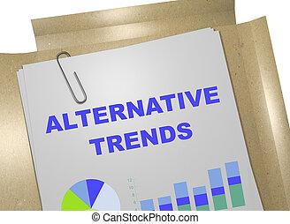 Alternative Trends concept
